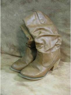 Botte cowboy brune (femme)