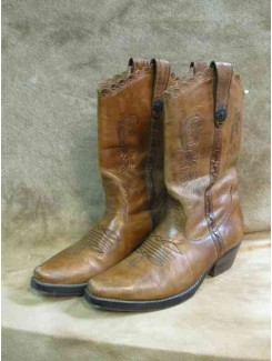 Botte cowboy brune cuir (femme)