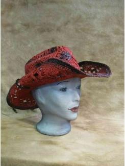 Chapeau Cowboy rouge