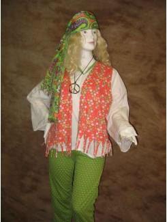 Hippie vert pico blanc