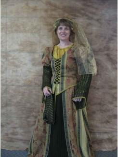 Noblesse draperie vert dentelle