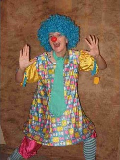 Clown bleu