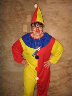Clown rouge et jaune