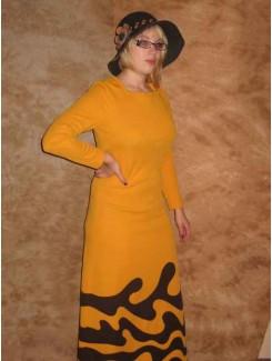 Robe 1970 jaune