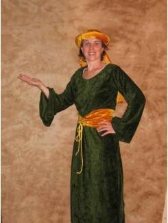 Robe médiévale verte