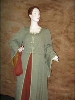 Médiéval draperie vert
