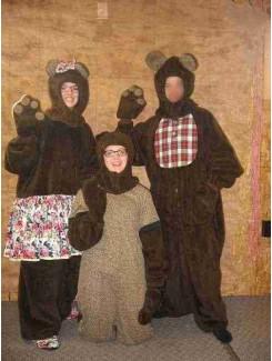 Famille ours (bébé, maman ou papa)