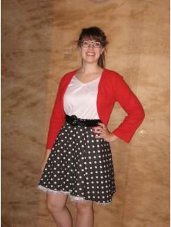 Robe 1950 rouge et noire