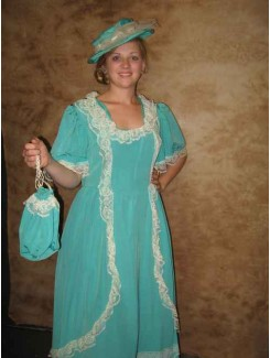 Robe 1900 turquoise