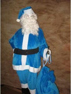 Costume Père Noël bleu