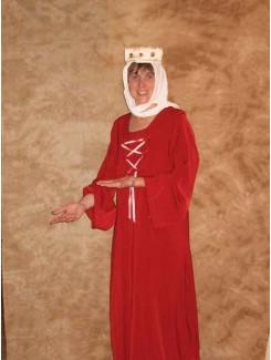 Robe médiévale rouge