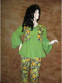 Hippie fleur verte