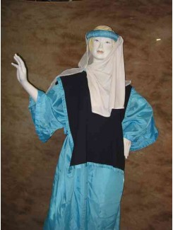 Robe médiévale bleue