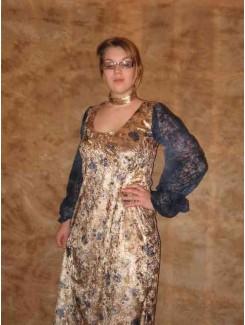 Médiéval robe velour brun