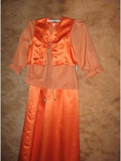 Paysanne satin orange