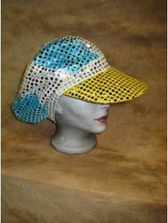 Casquette disco brillante