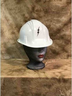 Casque Construction blanc Village People