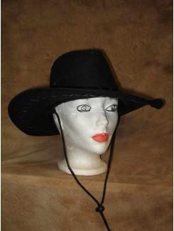Chapeau Cowboy noir suède