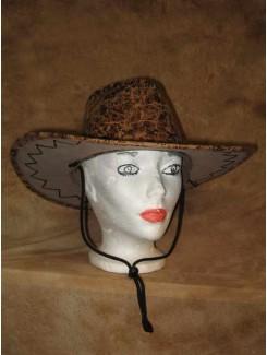 Chapeau Cowboy brun ramagé