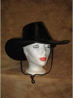 Chapeau Cowboy noir cuirette