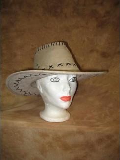 Chapeau Cowboy crème suède