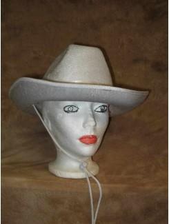 Chapeau Cowboy blanc velour
