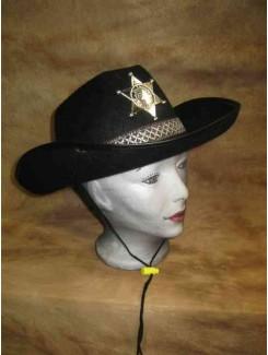 Chapeau Cowboy rigide sheriff