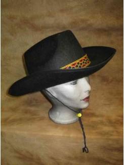 Chapeau Cowboy rigide noir