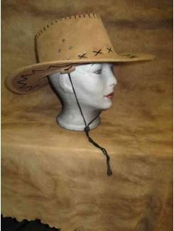 Chapeau Cowboy brun suède