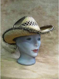 Chapeau Cowboy paille brune