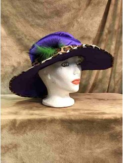 Chapeau Drag Queen grand mauve
