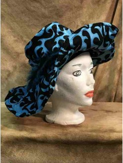 Chapeau Drag Queen grand bleu/noir