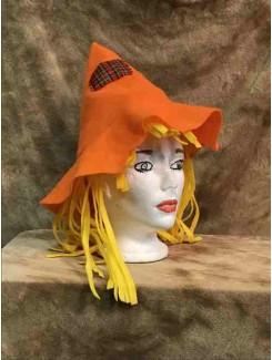 Chapeau Épouvantail orange