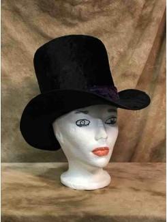 Chapeau Haut de forme bande mauve