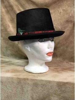 Chapeau Haut de forme à bande rouge