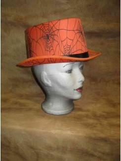 Chapeau Haut de forme orange