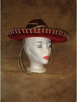 Chapeau Mexicain rouge