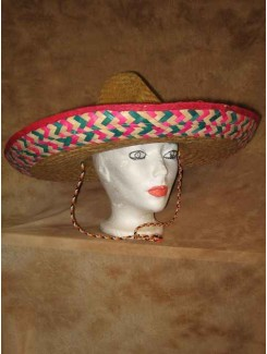 Chapeau Mexicain paille tressée