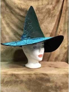 Chapeau Sorcière vert brillant