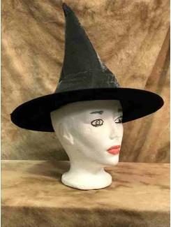 Chapeau Sorcière gris brillant