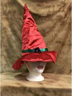 Chapeau Sorcière rouge satin
