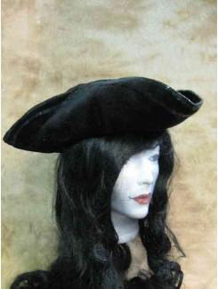 Tricorne velour noir