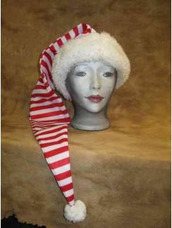 Tuque Noël rouge/blanc longue