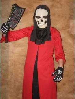 Squelette rouge et noir