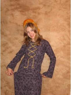 Robe médiévale mauve