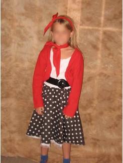 Robe 1950 rouge et noir