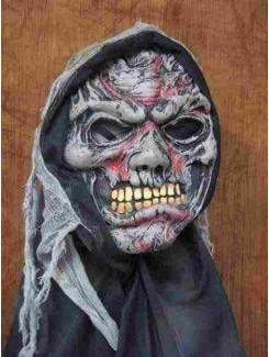 Masque Squelette gris