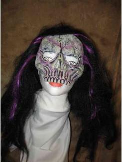 Masque Squelette mauve
