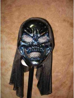 Masque Squelette bleu métalique