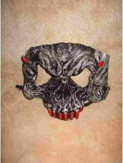 Masque Squelette mini pique rouge